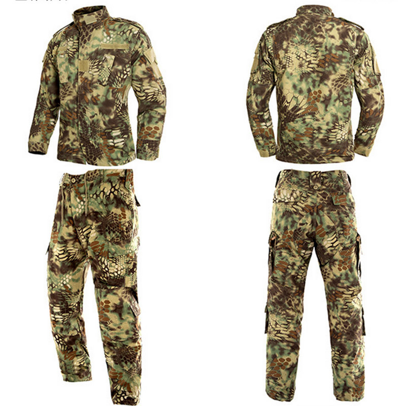 Black and Camouflage Army Military Uniform Acu