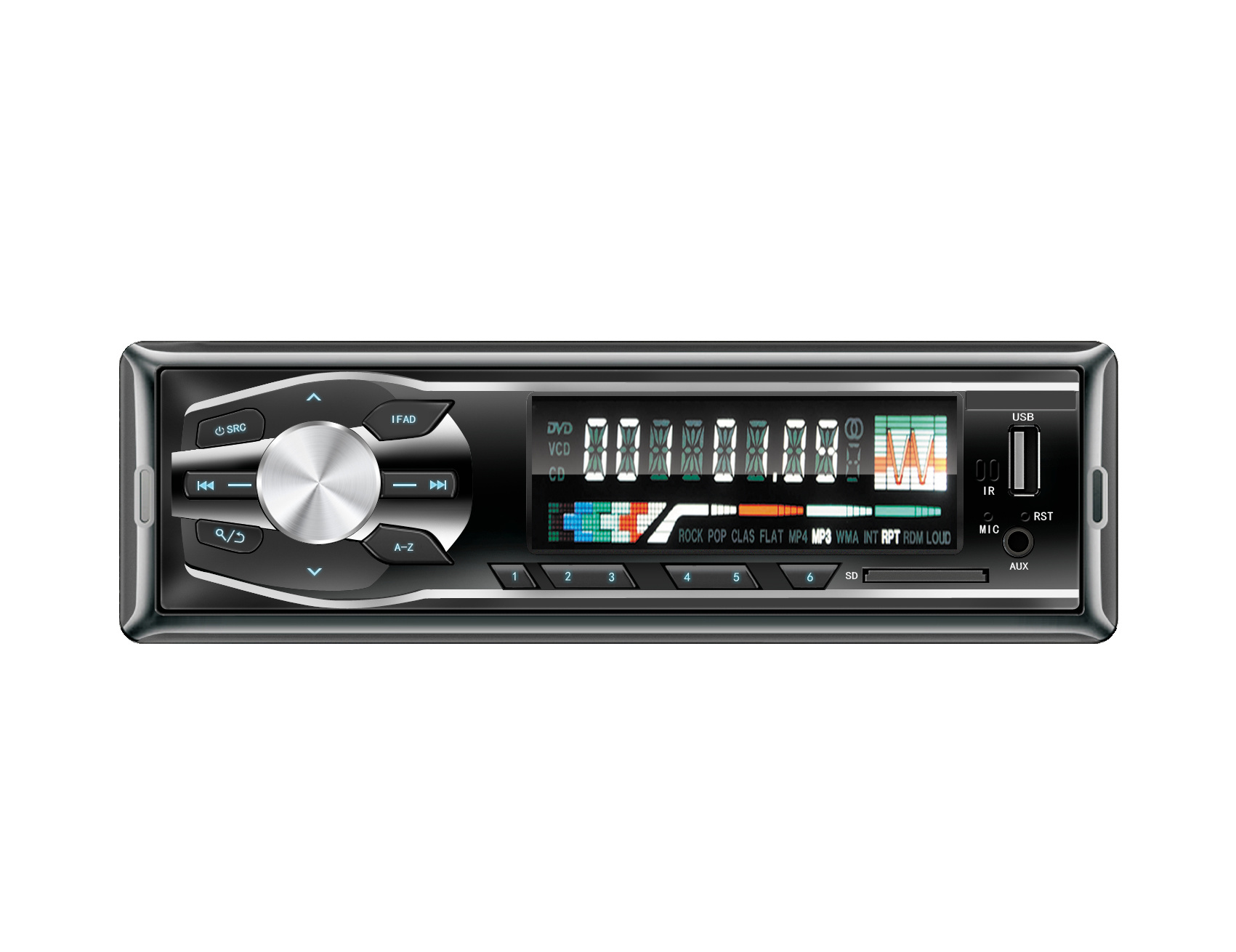 1DIN Car Audio MP3 FM Amplifier Radio USB SD Player