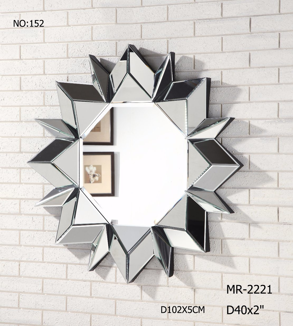 Customized Fashion Decorative Wall Mirror for Living Room & Hotel