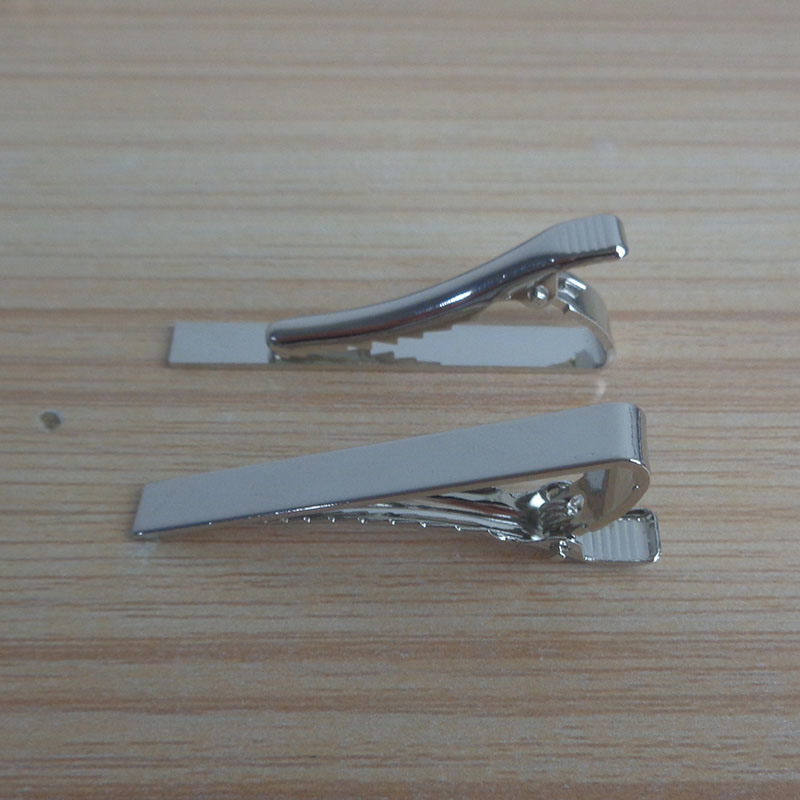 High Quality Silver Simple Plain Tie Clip