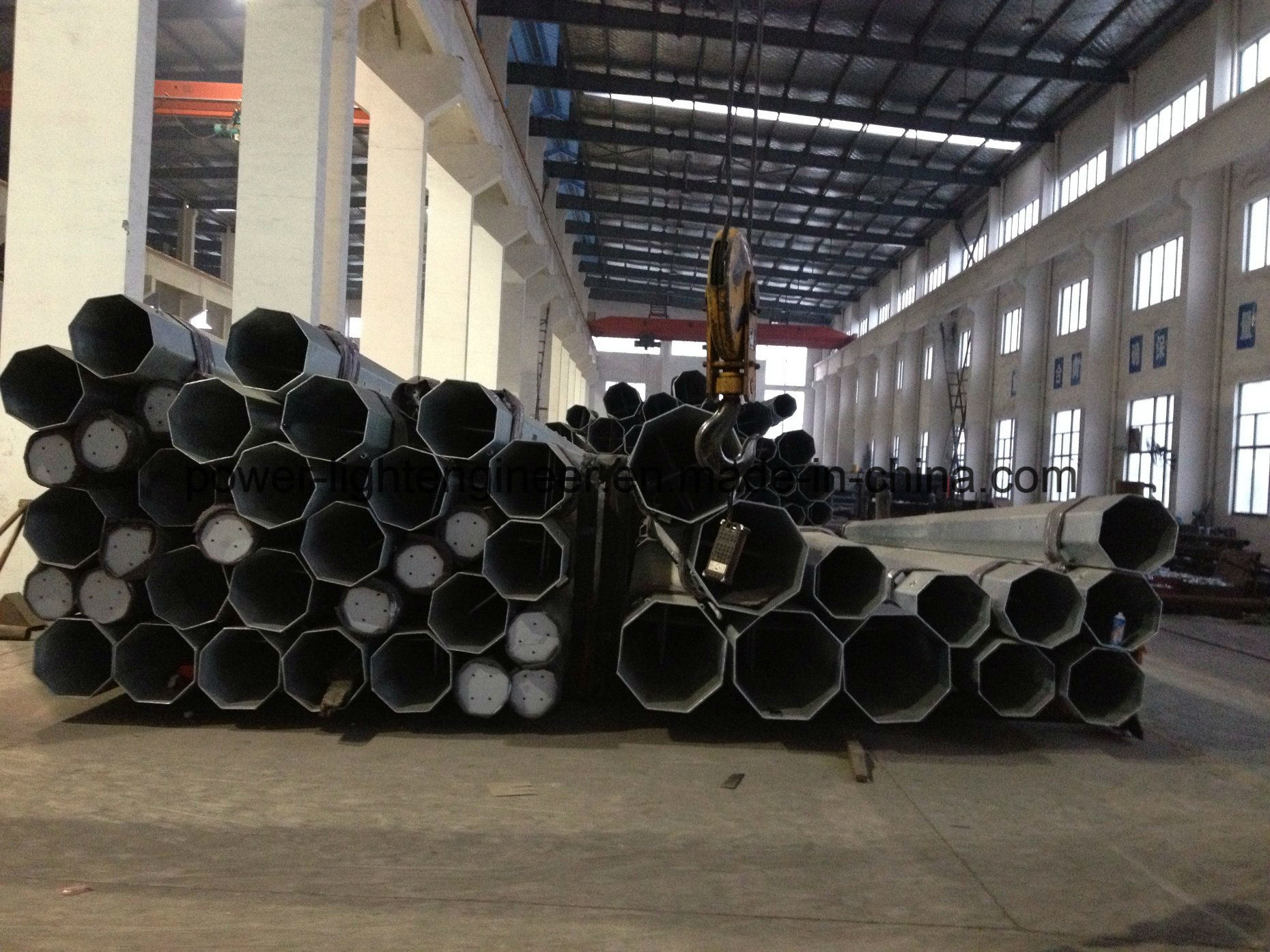 Hot DIP Galvanization Electric Power Steel Tubular Pole