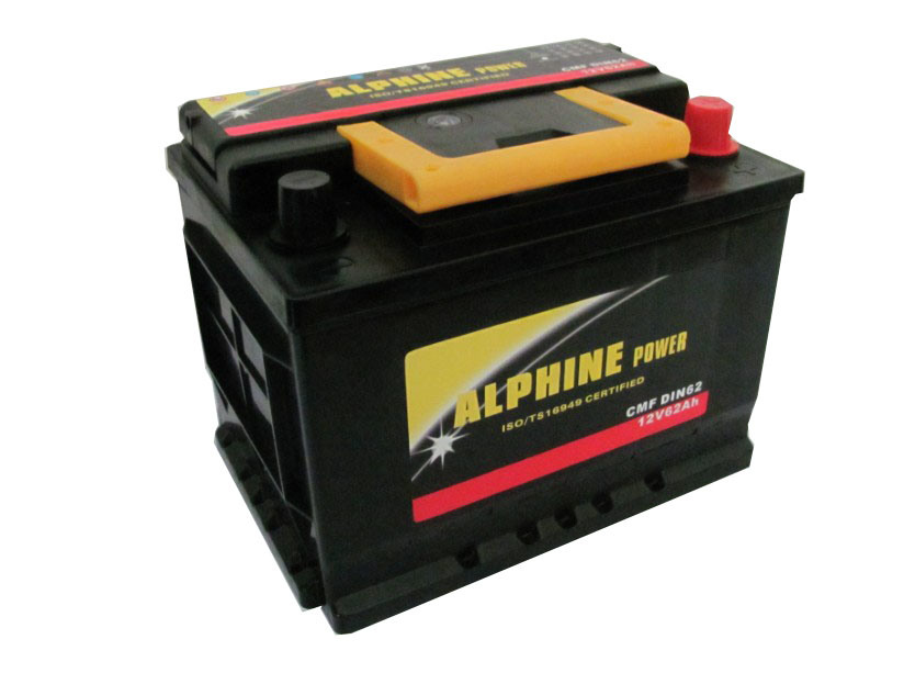 Starting Car Battery/Storage Battery/DIN62mf Car Battery at Lowest Price