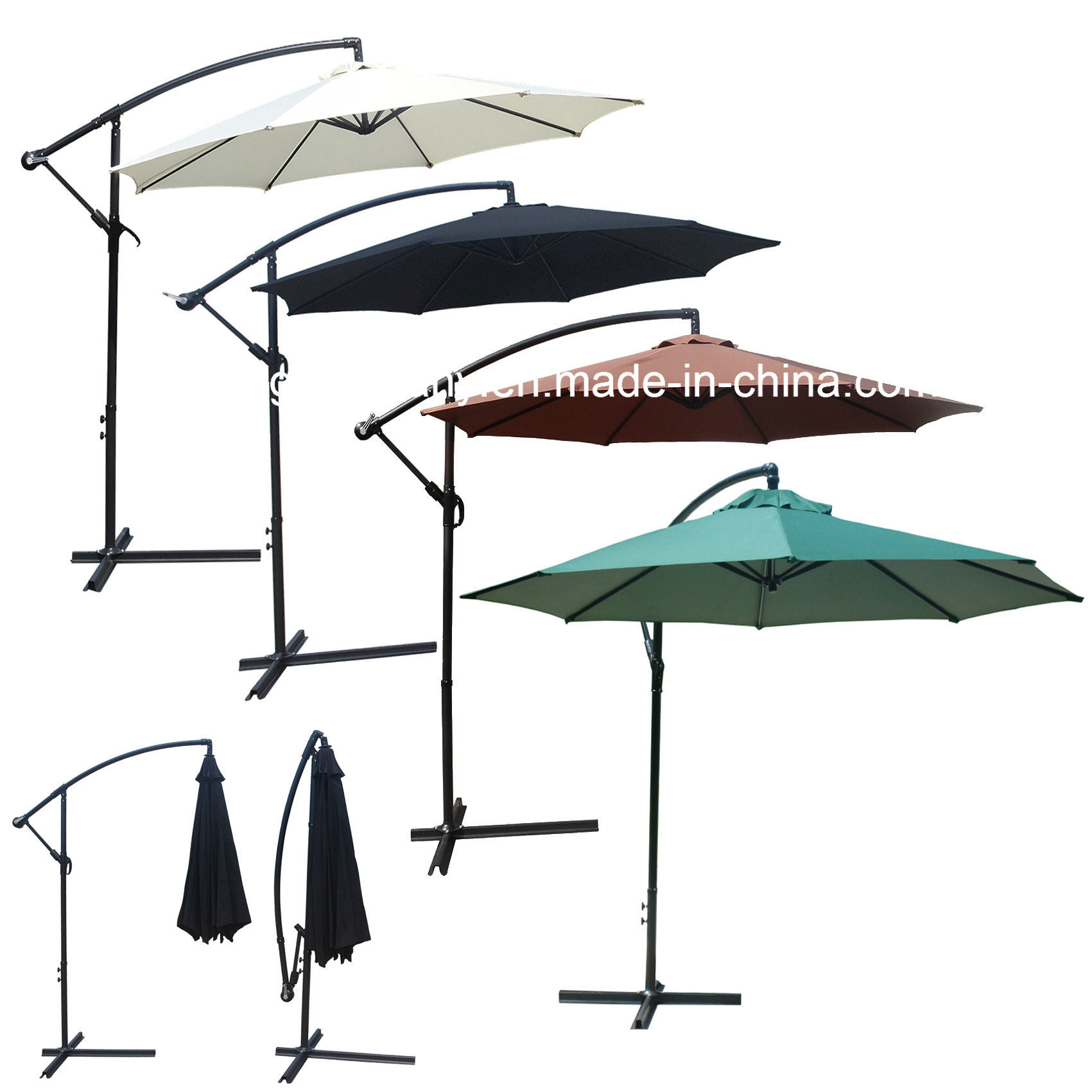 10FT (3M) Outdoor Garden Patio Steel Umbrella Parasol