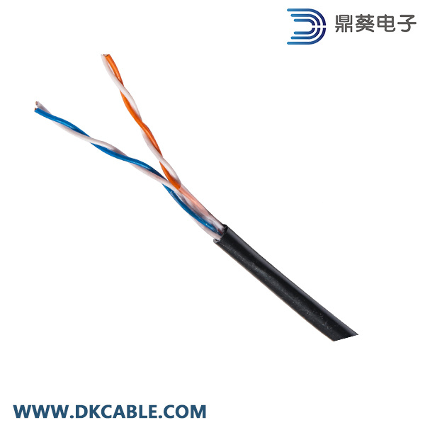 2pairs 24AWG UTP Cat5e/Telephone/Security Water Proof, UV Protection Cable