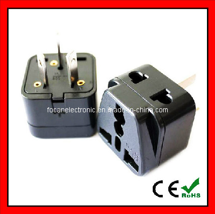 Grounded Universal 2 in 1 Plug Adapter Type I for Australia, China, New Zealand and More - High Quality - CE Certified - RoHS Compliant