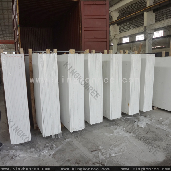 White Engineered Artificial Quartz Stone for Countertop