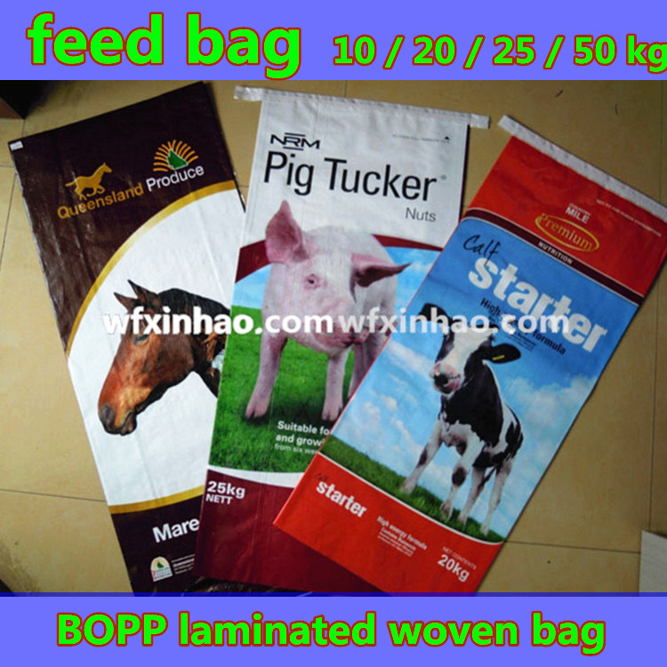 Feed Bag/BOPP Laminated Woven Bag with 10/20/25/50kg Loading
