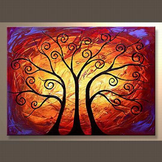 Abstract moderno acrylic painting para trees abstract moderno acrylic painting para trees - Pintura acrilica moderna ...