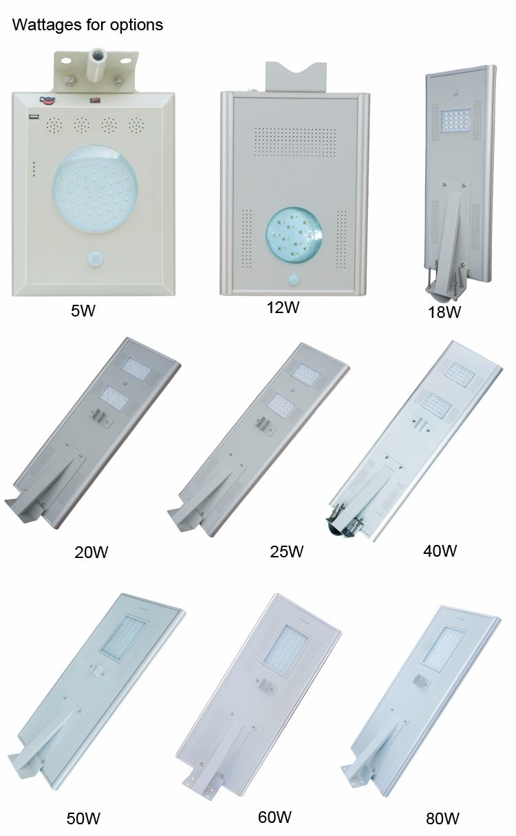 High Power Adjustable 80W Solar LED Street Light