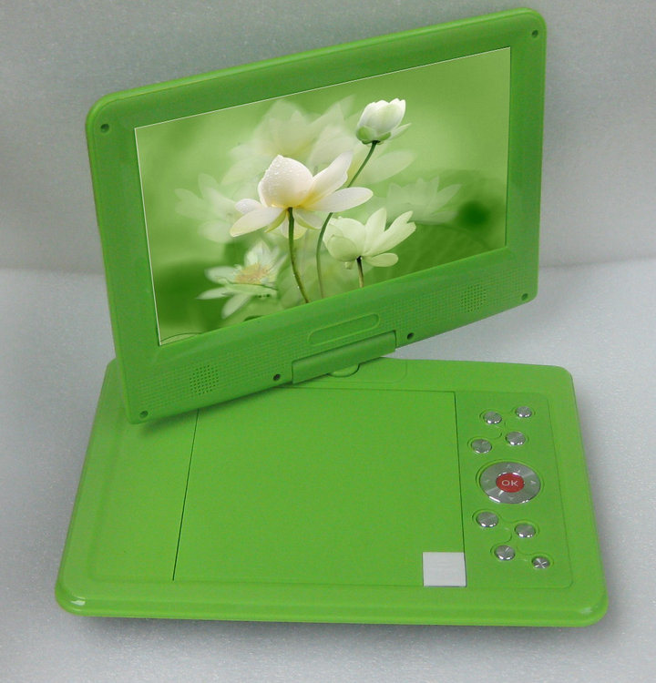 Green portable dvd player