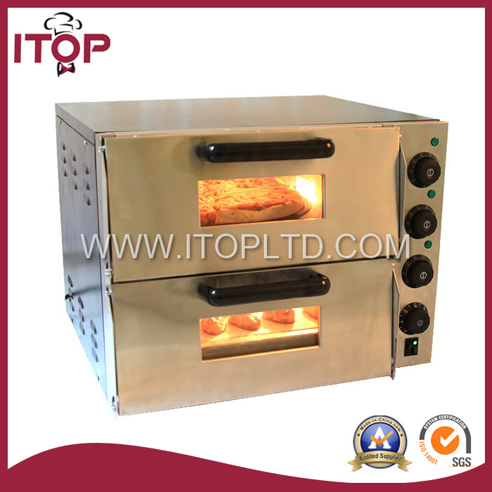 Commercial Stainless Steel Electric Pizza Oven with Timer (K-P2ST)