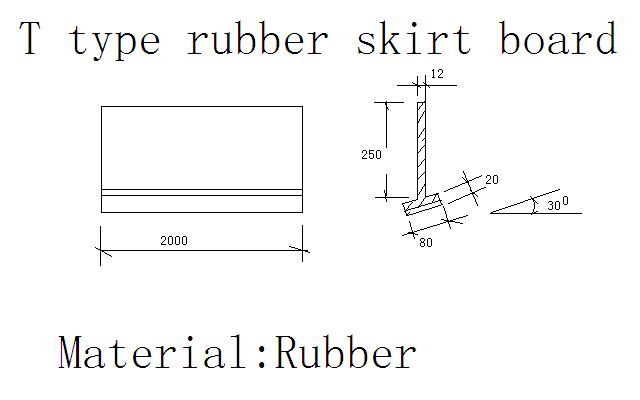 Rubber Sheet/Skirting Board/Seal for Conveyor Belt
