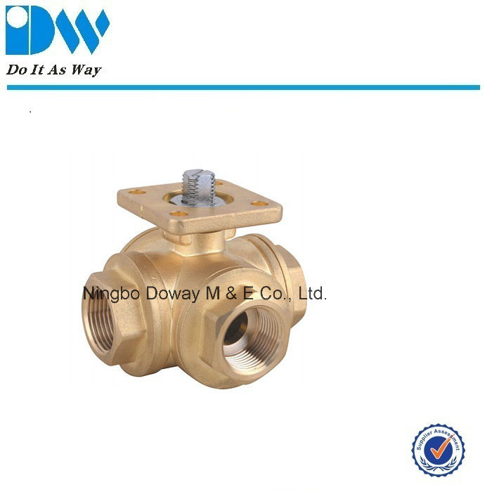 3way Ball Valve with Mounting Pad ISO5211