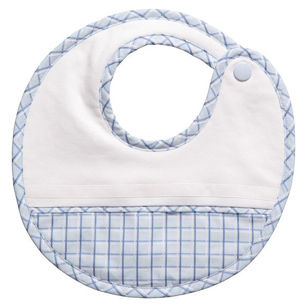Customized Design White Bamboo Fiber Cotton Baby Bib