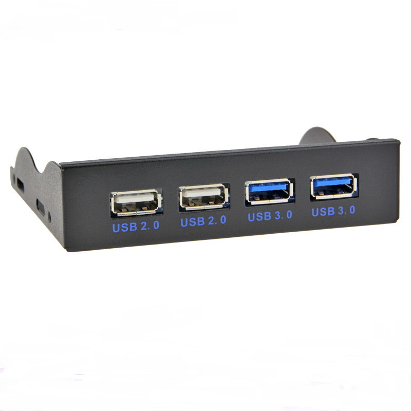 3.5 Inch Front Panel Data Hub with 4 USB Ports