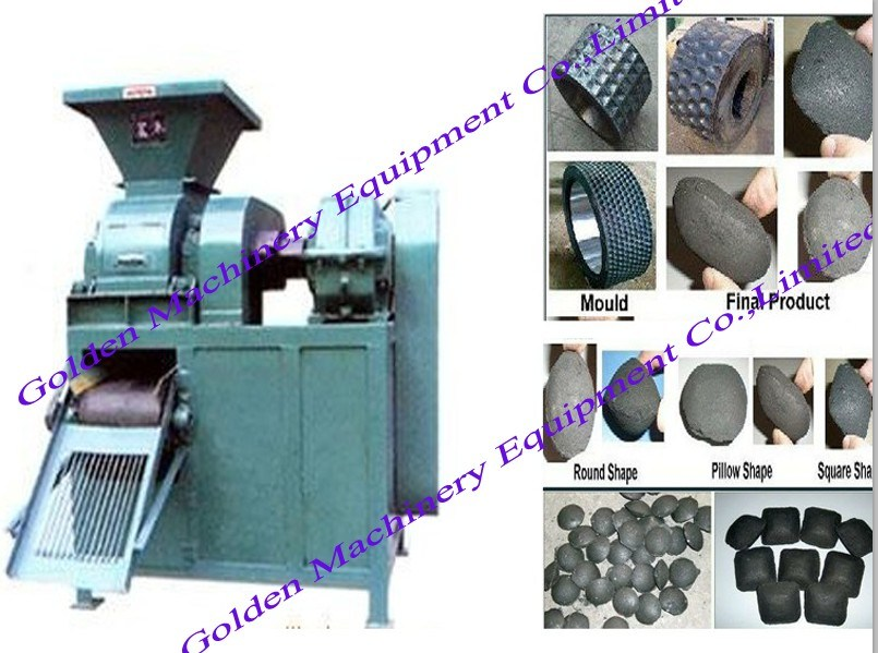 Coal Charcoal Powder Four-Roller Briquette Ball Press Machine