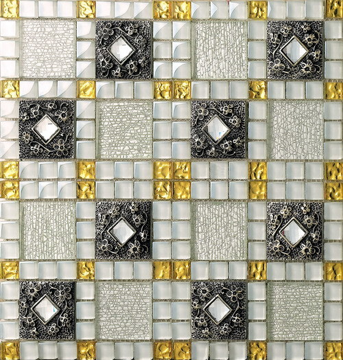 Building Material Wall and Floor Glass Mosaic Ma-GS1001