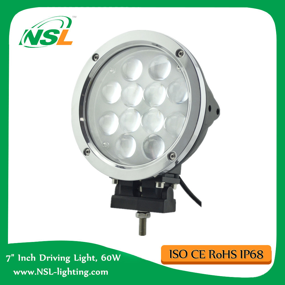 7 Inch 12PCS * 5W CREE 60W LED Work Light, Driving Lamp