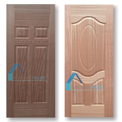 Coloration Teak/Cherry Wood Veneer Laminate Moulded HDF Door Skins