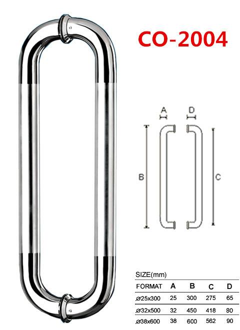 Round Tube Glass Door Handle