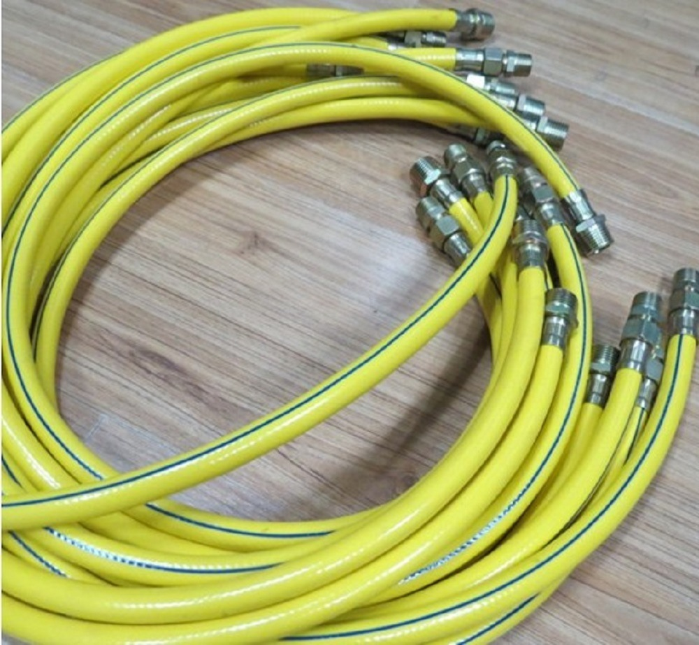 PVC Flexible Shower Tube Fiber Braided Water Garden Hose