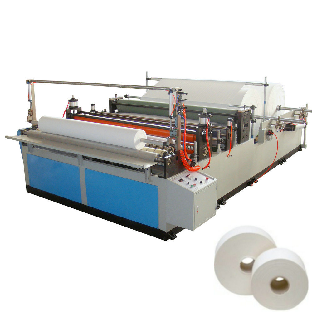 Jumbo Roll Toilet Paper Slitter and Rewinder