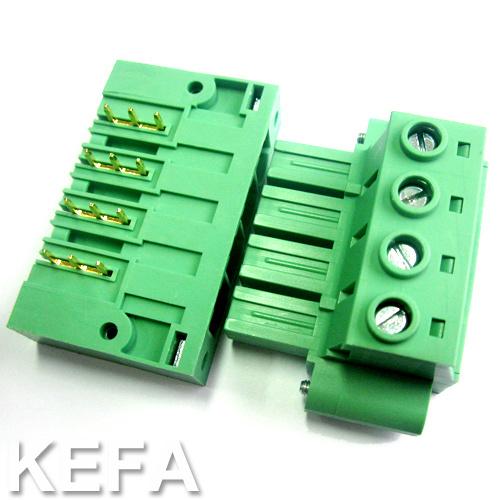 PCB Plugable Terminal Block with Side Lock Anti-Vibration