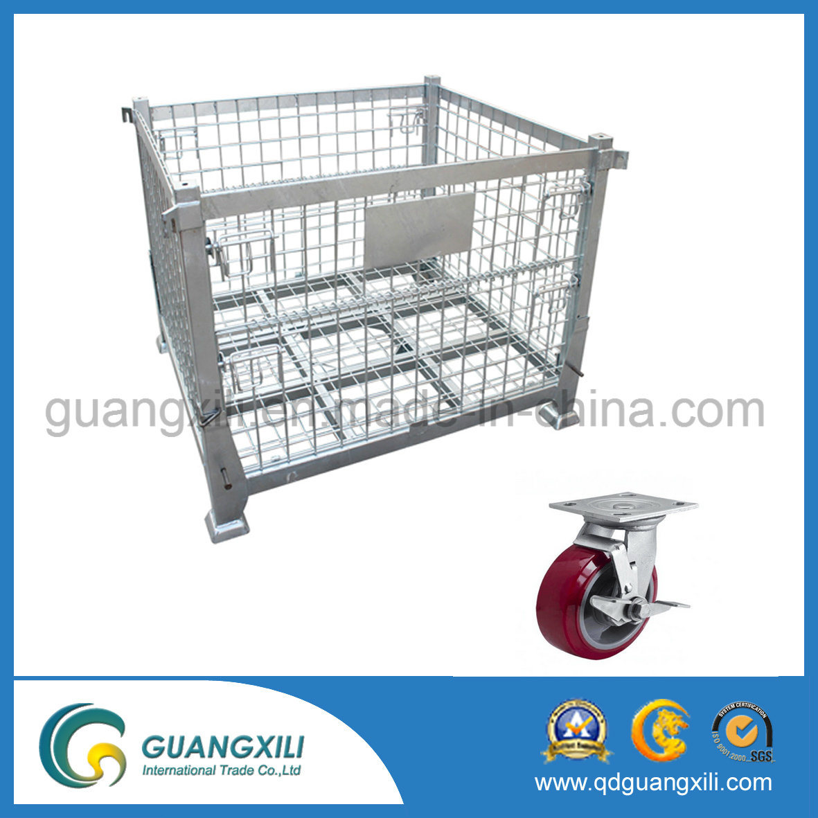 1200*1000*890mm Lifting Type Wire Mesh Container