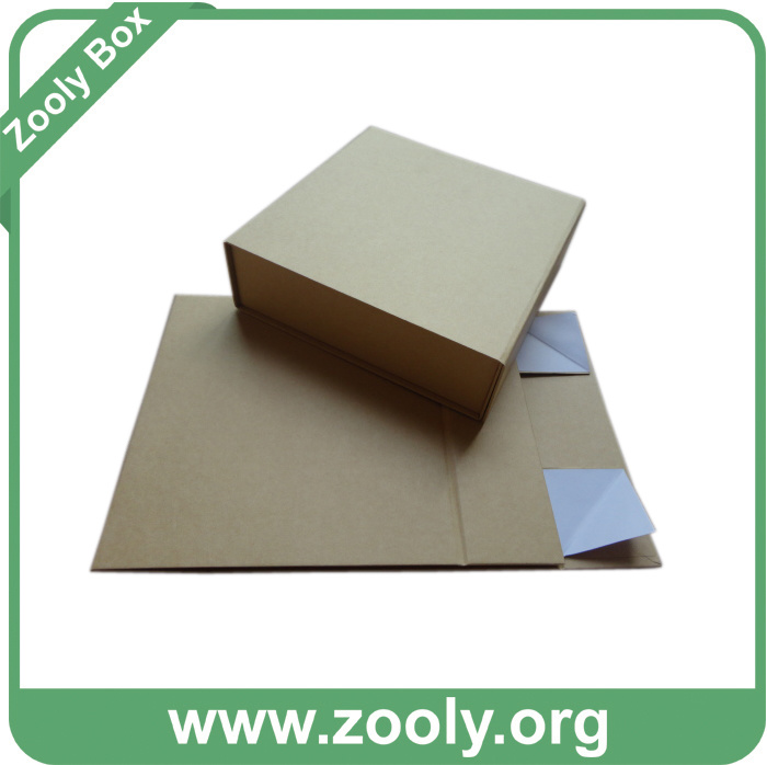 Eco-Friendly Natural Brown Kraft Paper Folding Gift Box