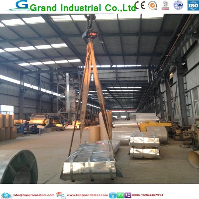 China Grandsteel Galvanized Corrugated Metal Roofing Steel Sheet