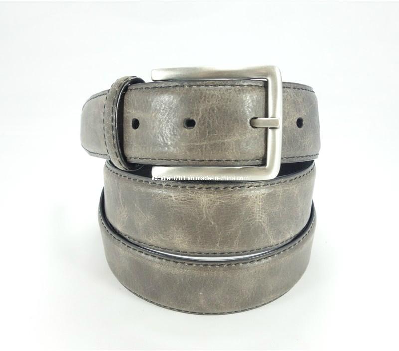 Handsome Men Jean′s Belt of Top Grain Leather