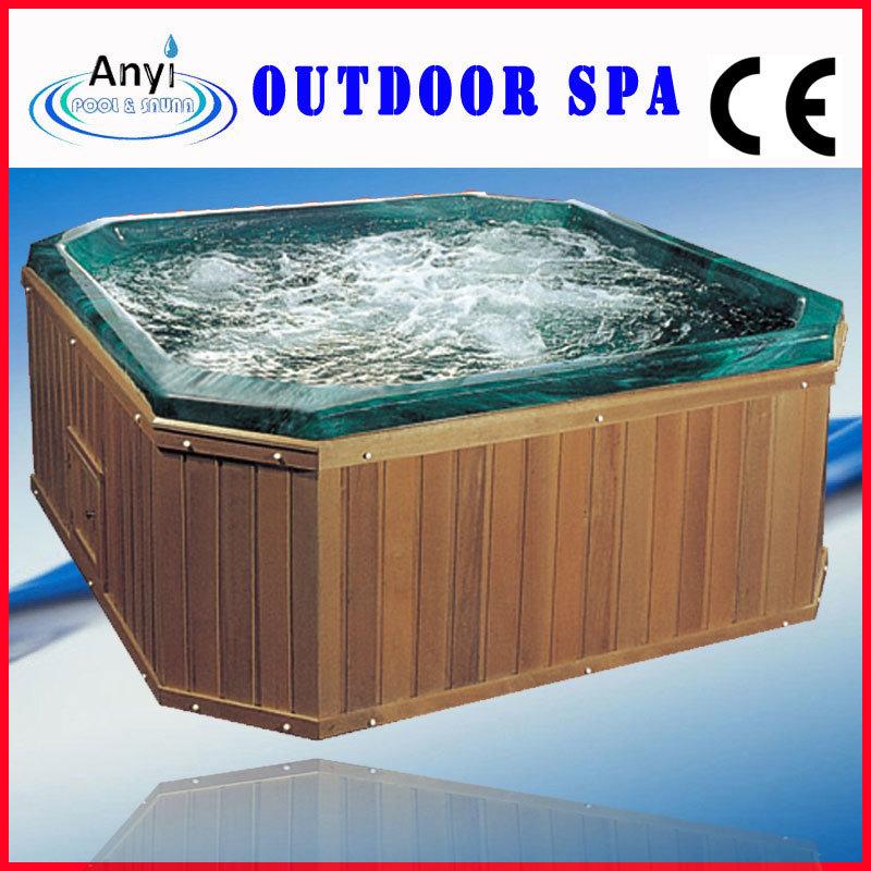 China Square Outdoor Jacuzzi Bathtub