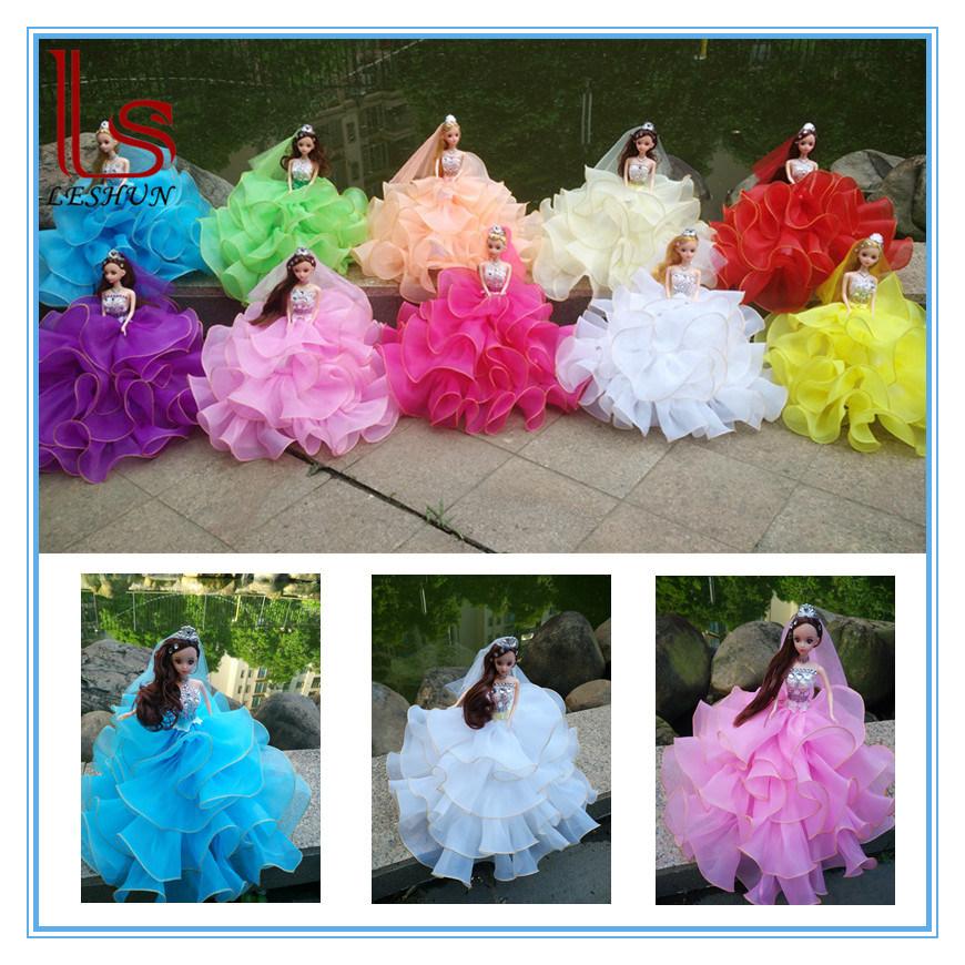 32cm Car Decoration Wedding Dress Dolls