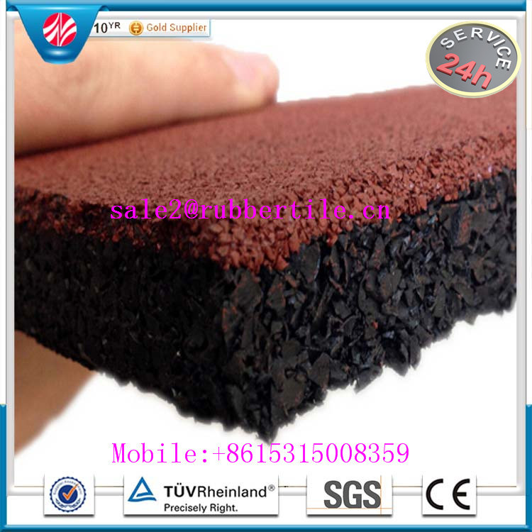 Eco-Friendly Recycled Granules Gym Rubber Flooring, Rubber Floor Tile
