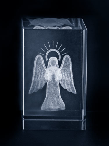 Religious 3D Laser Crystal Glass Craft Favors
