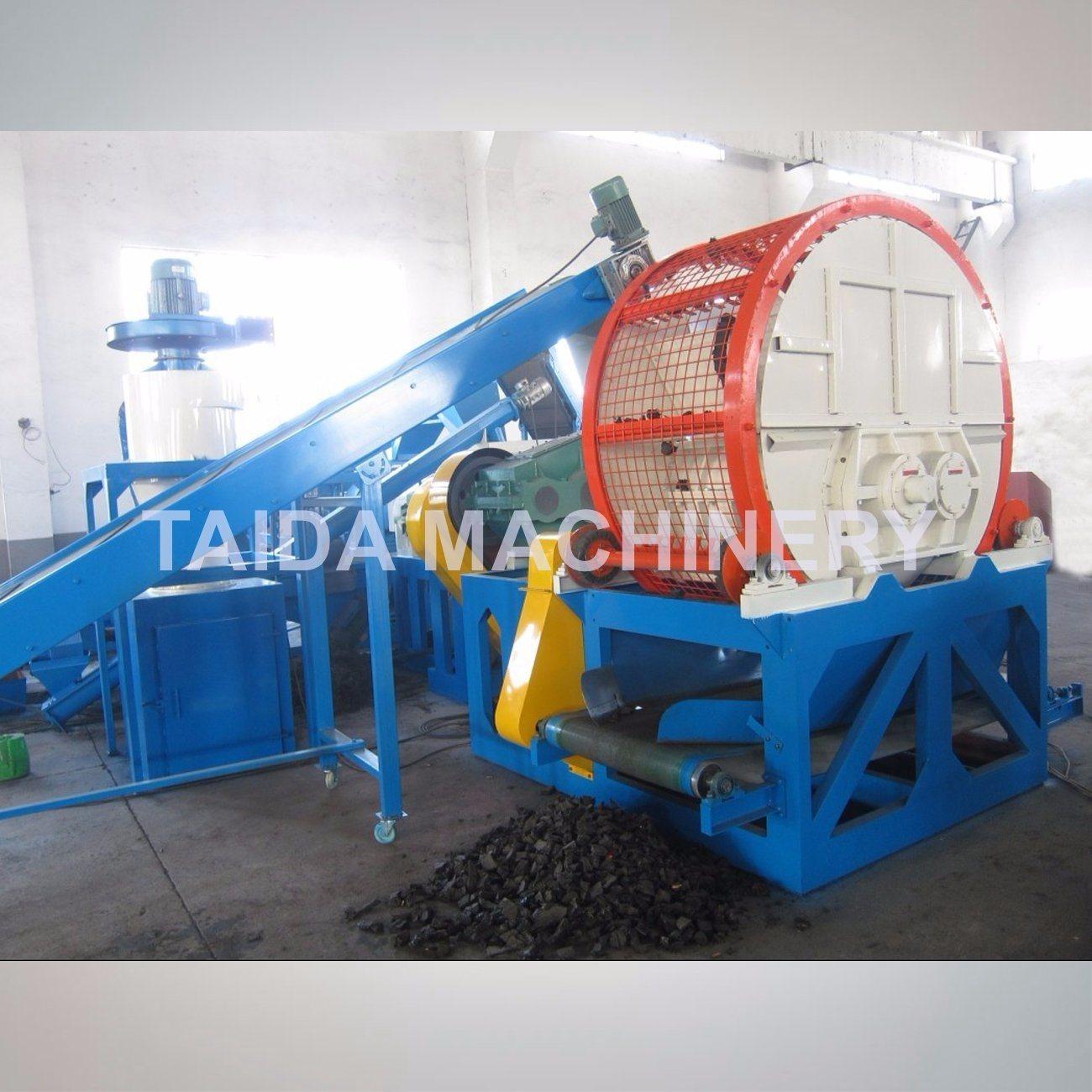 Automatic Waste Tire Recycling Shredder Crusher Cutter Grinder Rubber Cutting Machine