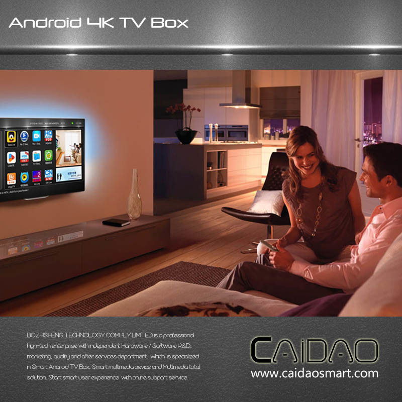 Smart TV Box Based on Arm Cortex A53 64bit Processor. 1GB+32GB Quad Core Tvbox Customization