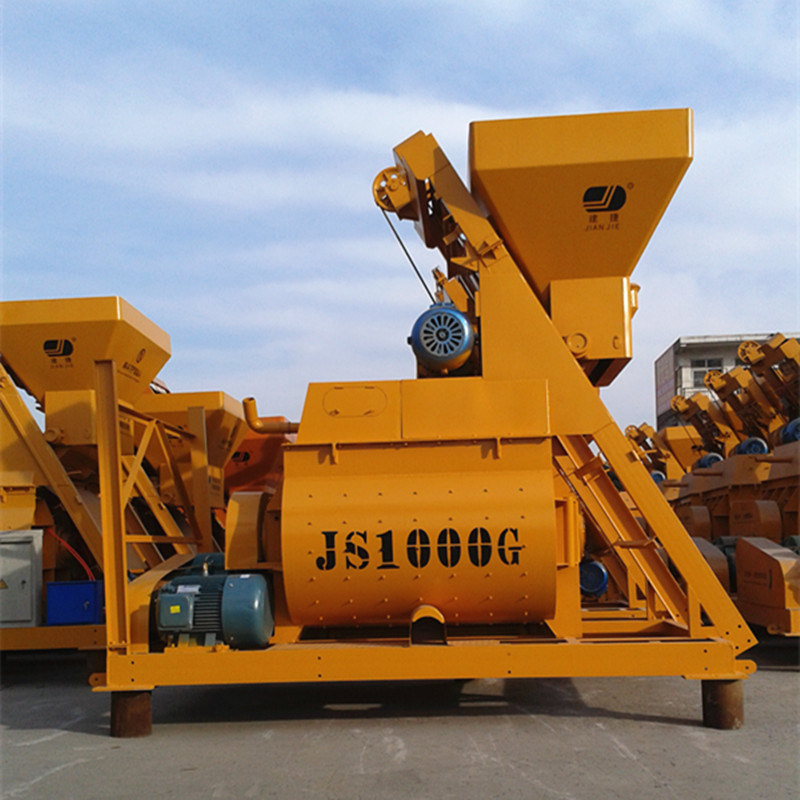 New Type Js1000II Twin Shaft Concrete Mixer