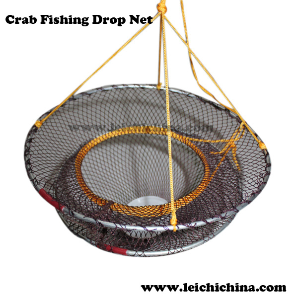 China foldable crab fishing hoop net drop net photos for Hoop net fishing