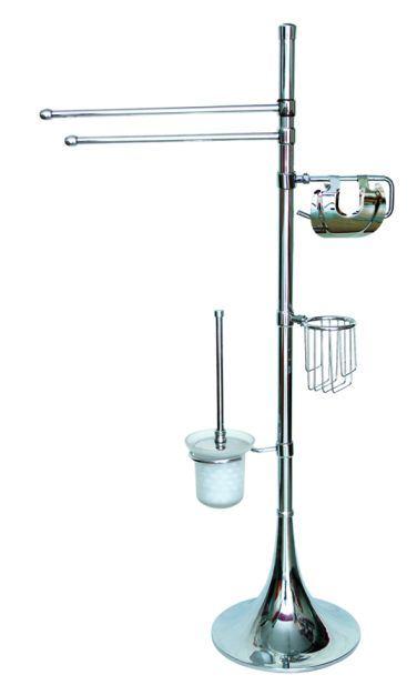 Bathroom tissue holder stand