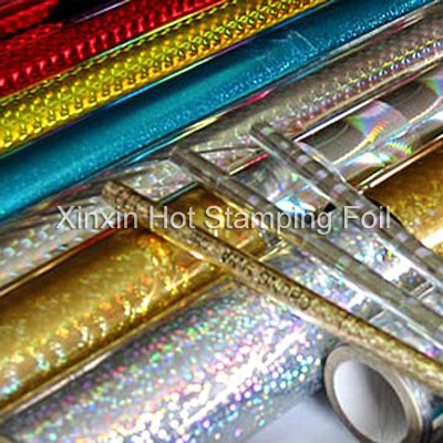 Holographic Laser Foils for Paper and Plastic