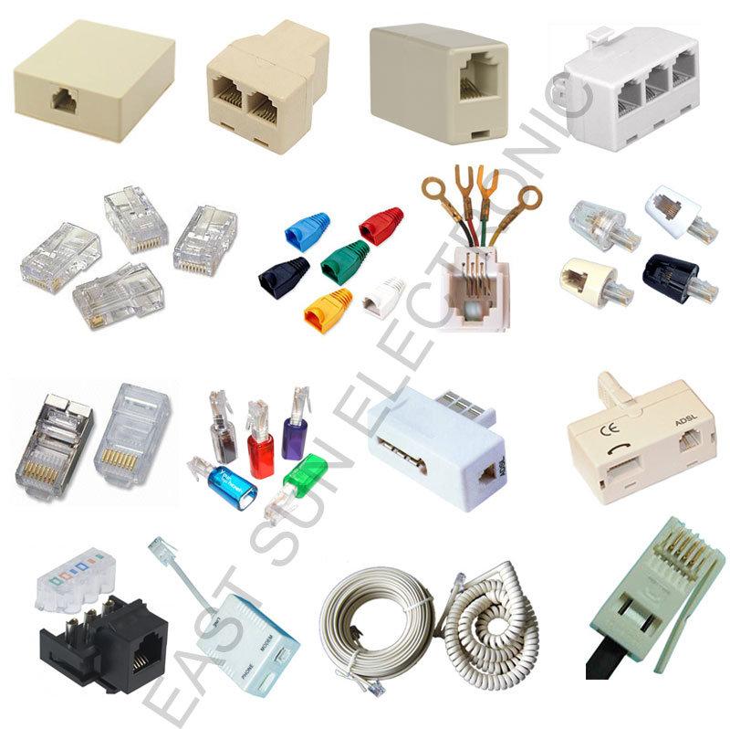 china rj11 rj12 rj45 telephone adapter 4p4c 6p4c 8p8c china telephone telephone connector