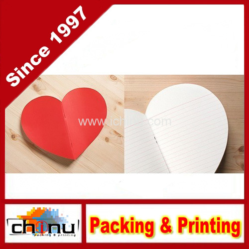 Custom Heart Sharp Notebook Notepad (4215)