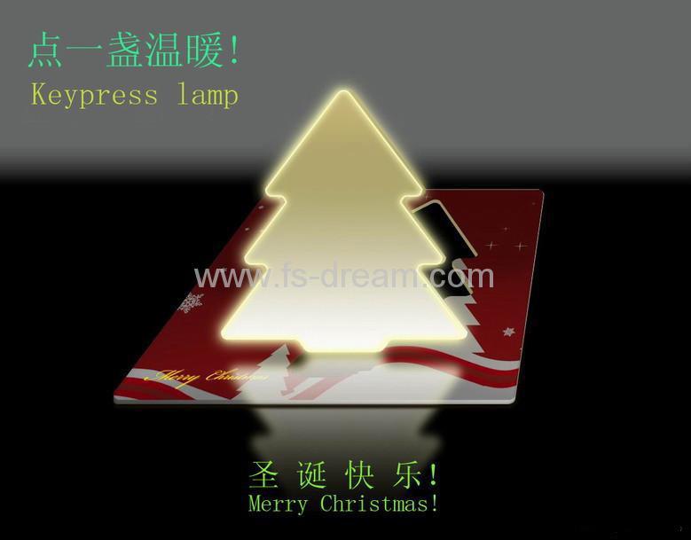 China led light card christmas tree shape cl