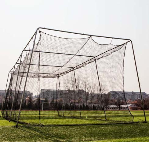 Twisted Poly Batting Cage Net and Frame 30X12X10