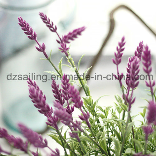 Wholesale Artificail Plastic Lavender Flower for Wedding Home Decoration (SW20201)
