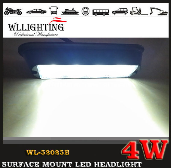 LED Lighthead Grille Light, Surface Mounted LED Headlight for Car and Truck Wl-52025b (LED-LIGHT-BAR 4W)