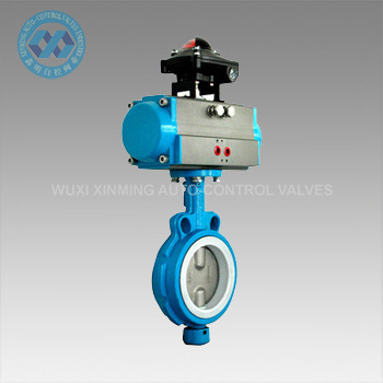 Soft-Sealed Pneumatic Butterfly Valve with Actuator