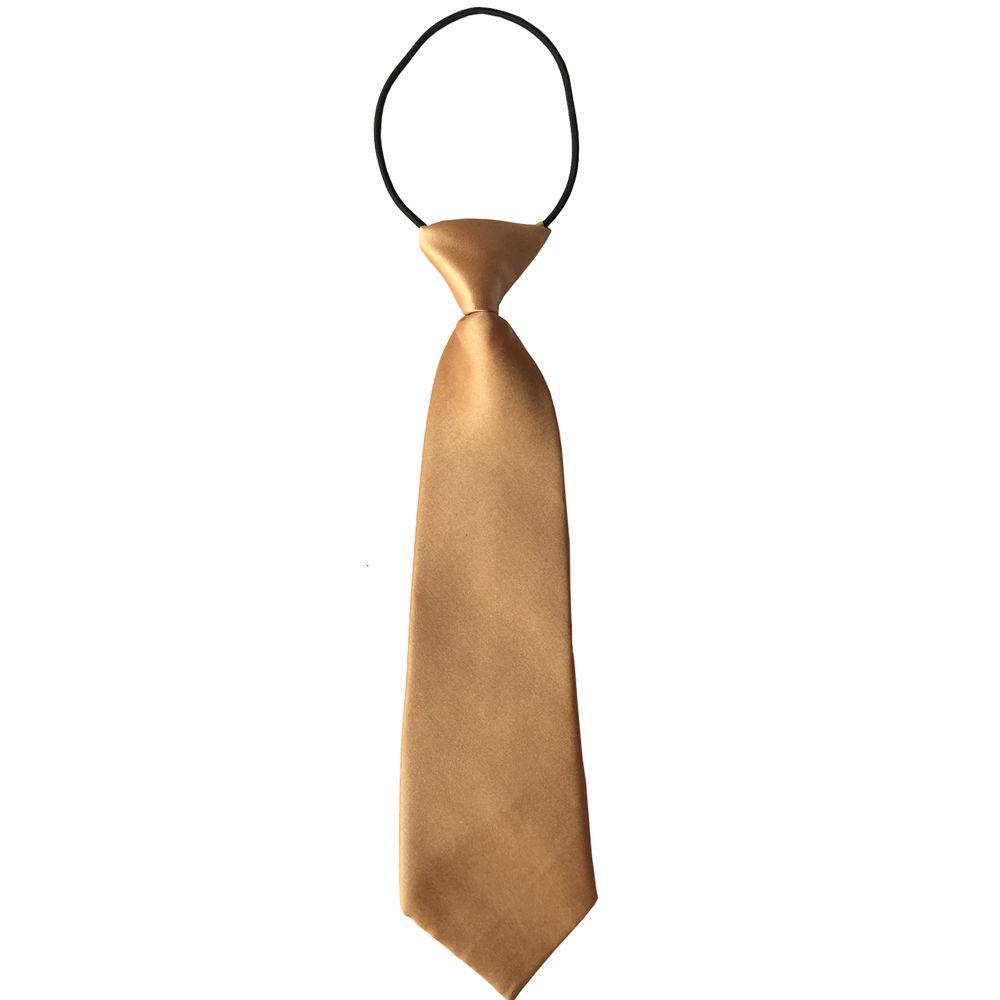 Wholesale Custom Polyester School Yellow Neck Ties (A392)