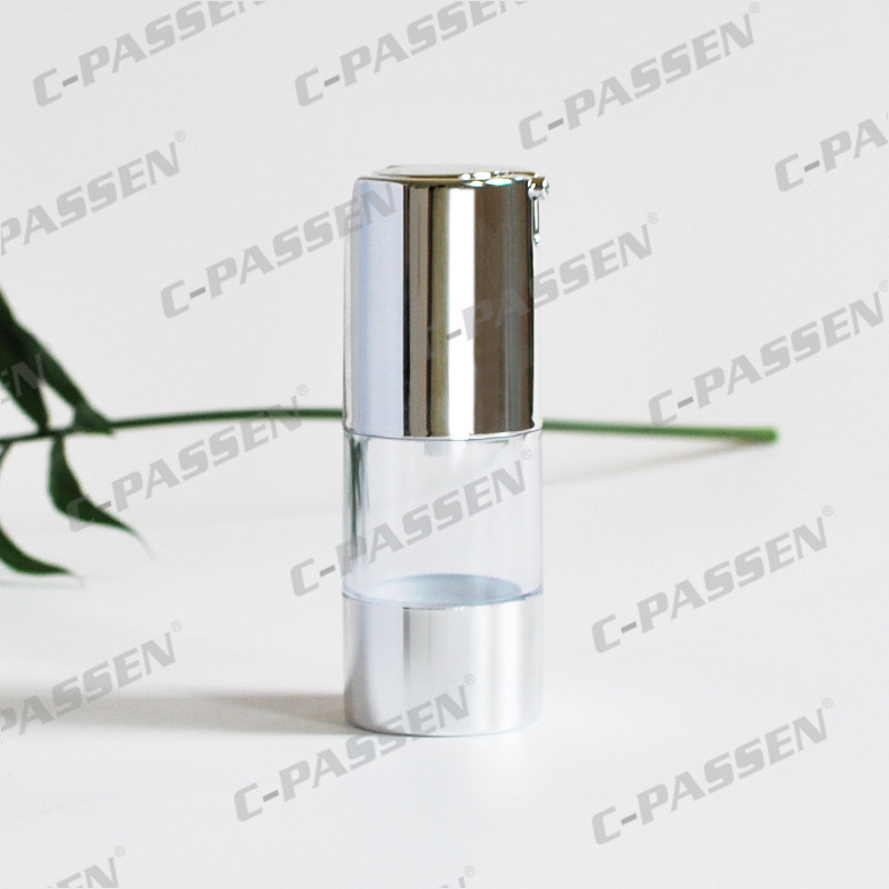 15g 30g 50g as Plastic Transparent Airless Cosmetic Bottle with Lotion Pump (PPC-NEW-021)